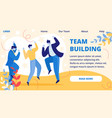 team building horizontal banner office event vector image