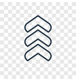 up arrow concept linear icon isolated on vector image