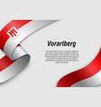waving ribbon or banner with flag state austria vector image vector image