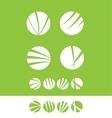 Flat circle logo set vector image