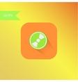 flat design mp3 icon element vector image