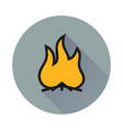 a fire icon vector image