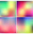 abstract blured color backgrounds vector image vector image