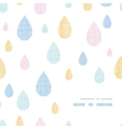 Abstract textile colorful rain drops frame corner vector image vector image