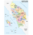 admin map indonesian province north sumatra vector image vector image