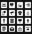 advertisement icons set squares vector image vector image
