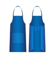 Apron isolated on white Blue outer protective vector image vector image