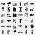 audio icons set simple style vector image vector image