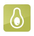 Avocado outline icon Tropical fruit vector image vector image