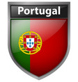 badge design for flag of portugal vector image vector image