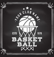 basketball club badge vector image vector image