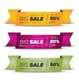 Big sale horizontal banners vector image vector image