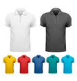 Black and white and color men t- shirts Design vector image vector image