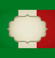 blank frame on italy insignia vector image vector image