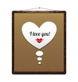 Board in a wooden frame with congratulation vector image