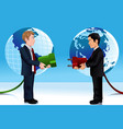 business concept of connecting eastern and vector image vector image