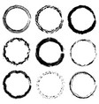 circular frame textures set vector image