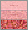 Colored square mosaic pattern banner set vector image vector image