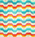 colored zigzag line seamless pattern vector image vector image