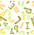 colorful plasticine letters for children vector image