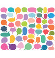 colorful speech and thought bubbles set vector image vector image