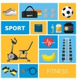 Concept of the gym sport equipment vector image vector image