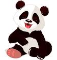 cute baby panda vector image vector image
