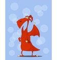 Cute red dragon Cartoon vector image vector image