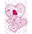 cute valentines hearts vector image vector image