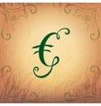 Euro Symbol in Vintage Style vector image