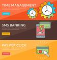 Flat design concept for time management sms vector image