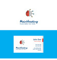 flat neurons logo and visiting card template vector image