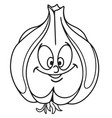 fresh garlic cartoon vector image vector image