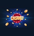 gambling casino online leisure games vector image vector image