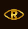 golden initial r eye