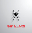 Halloween spider background vector image vector image