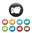 hand greed icons set color vector image vector image