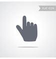 Hand Icon isolated on white Background vector image vector image