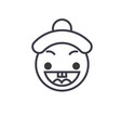 happy chinese emoji concept line editable vector image