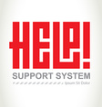 Help - support system logotype Concept logo design vector image