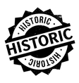 Historic rubber stamp vector image vector image