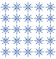 indigo blue and white seamless geometric pattern vector image vector image