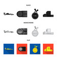 isolated object of car and rally symbol set of vector image vector image