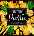 italian natural pasta and seasoning vector image vector image