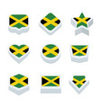 jamaica flags icons and button set nine styles vector image