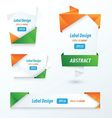 Label Ribbon Origami Style orange green blue vector image vector image