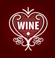 loop logo barrel of wine in the form of heart vector image vector image