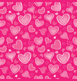 love heart doodle seamless pattern valentine day vector image vector image