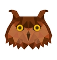 low bird low poly isolated icon vector image vector image