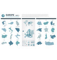maps set high detailed 45 of european vector image vector image